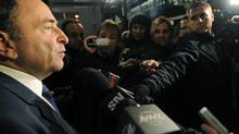 NHL Commissioner Gary Bettman speaks to reporters following labour talks, Friday, Nov. 9, 2012, in New York. (Louis Lanzano/AP)