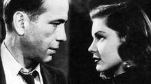"Humphrey Bogart and Lauren Bacall in the 1946 version of ""The Big Sleep"""