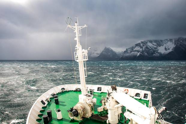 Those following Ernest Shackleton's trail will face powerful winds.
