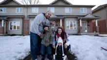The pair struggled in the aftermath to provide for their young family with both parents out of work. At the time, Ms. Smith wasn't eligible for benefits because she was off on maternity leave caring for their youngest daughter when the plant was shut down. (Deborah Baic/The Globe and Mail)
