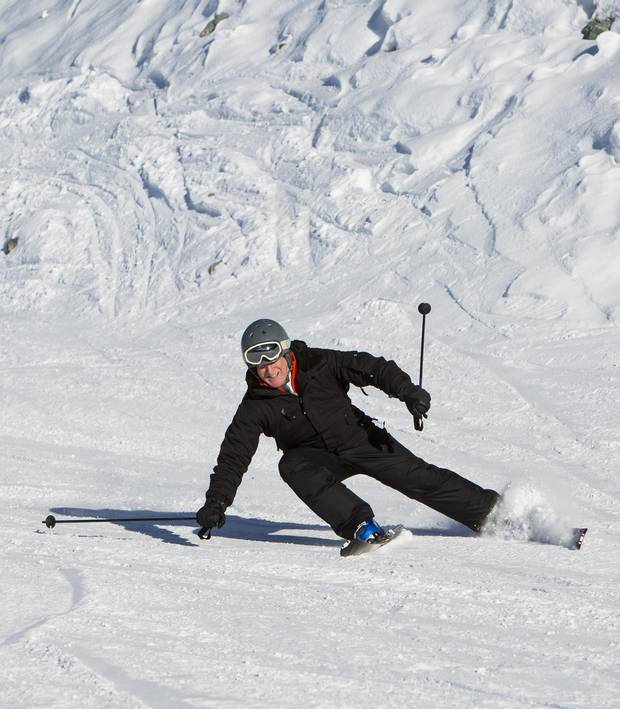 Playing hockey while growing up, it turned out, was an enormous advantage in learning how to ski.