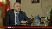 Mayor Anatoly Pakhomov appearing on the the BBC program Panorama (BBC)