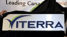 A 2007 file photo of the unveiling of the name of the new company, Viterra. (TROY FLEECE/Troy Fleece/The Canadian Press)