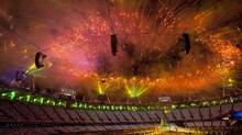 Fireworks are seen at the Closing Ceremony of the 2012 Summer Olympics in London, England, Sunday, August 12, 2012. (Kevin Van Paassen/The Globe and Mail)
