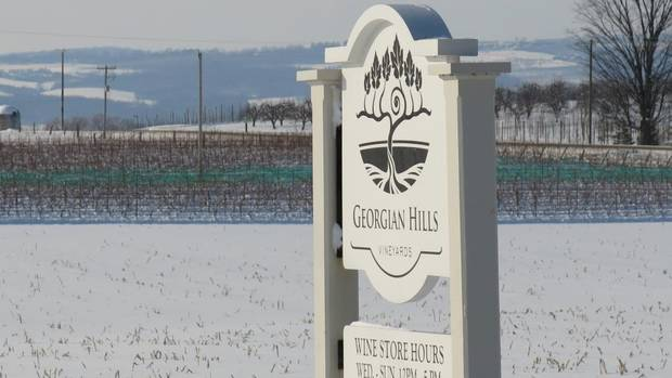 A winter view of Georgian Hills Vineyards in The Blue Mountains, Ont. (ROBERT KETCHIN/COURTESY OF GEORGIAN HILLS)