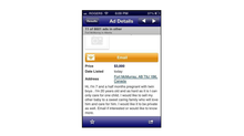 A screenshot of a Kijiji ad purporting to show a woman trying to sell one of her unborn twins for $3,000.
