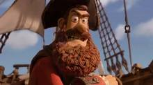 "Screen grab from the online trailer for the new animated comedy ""The Pirates! Band of Misfits"""