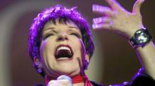 Liza Minnelli performs on stage at the Avo Session in Basel, Switzerland, on Tuesday, Oct. 25, 2011. (GEORGIOS KEFALAS/AP)