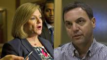 NDP Leader Andrea Horwath, left, and Conservative Leader Tiim Hudak.