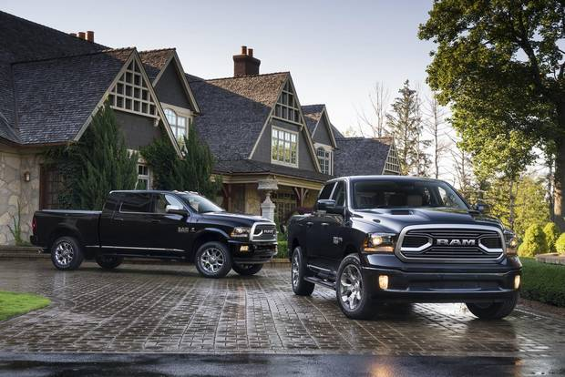 2018 Ram 2500 Limited Tungsten Edition and 2018 Ram 1500 Limited Tungsten Edition.