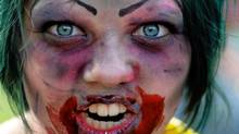 A participant at Toronto's Zombie Walk (Roger Hallett/The Globe and Mail/Roger Hallett/The Globe and Mail)