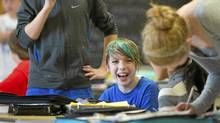 Grade 7 students participate in class at East Alternative School of Toronto (E.A.S.T.) in Toronto, Ont. Nov. 30, 2011. (Kevin Van Paassen/Kevin Van Paassen/The Globe and Mail)