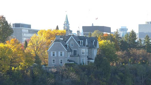 The Canadian prime ministers' residence, 24 Sussex, sits on the bank of the Ottawa River.
