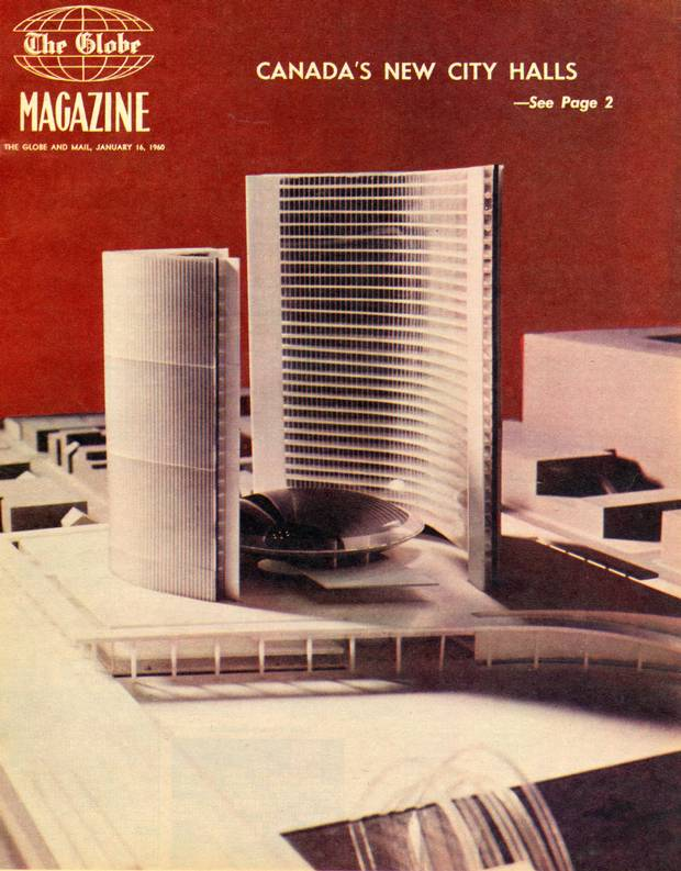 Toronto's new City Hall building is featured in The Globe Magazine on Jan. 16, 1960.