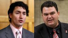 Liberal MP Justin Trudeau and Dean Del Mastro, the parliamentary secretary to the Prime Minister, are shown in a photo combination. (Reuters and The Canadian Press)