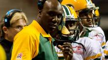Edmonton Eskimos' head coach Kavis Reed looks on from the sidelines while playing the B.C. Lions during the second half of a CFL football game in Vancouver, B.C., on Saturday October 29, 2011. (DARRYL DYCK/THE CANADIAN PRESS)