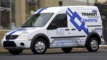 Azure Dynamics and Ford Motor Co. plan to launch a fully electric version of Ford's hugely successful Transit Connect commercial van. (Azure Dynamics)