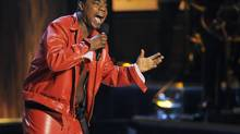"""In this Nov. 3, 2012 file photo, comedian Tracy Morgan performs at """"Eddie Murphy: One Night Only,"""" a celebration of Murphy's career at the Saban Theater in Beverly Hills, Calif. (Chris Pizzello/Chris Pizzello/Invision/AP)"""