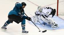 Coming out of the Olympic break was like starting a second season for San Jose's Joe Thornton, left. (Kelley L. Cox/USA Today Sports)