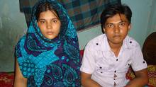 Spouses Taniya Begum and Mazharul Islam say they were physically assaulted and fired from the Next Collections Limited factory, in Dhaka, Bangladesh, after Ms. Begum informed management that she was pregnant. A report by the Institute for Global Labour and Human Rights alleges the factory kept clients such as The Gap and Old Navy in the dark about labour abuses by keeping two sets of books. (Institute for Global Labour and Human Rights)