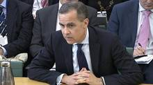 A video grab image shows Mark Carney, the next governor of the Bank of England, answering questions from a parliamentary committee in the Houses of Parliament in central London Feb. 7, 2013. (POOL/Reuters)