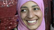 Yemen's Tawakklul Karman, one of three recepients of the 2011 Nobel Peace Prize award. (REUTERS)