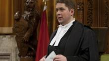 Speaker of the House of Commons Andrew Scheer will inform members of Parliament this month that the lower house had sent the wrong version of Bill C-479 to the Senate for review. (Adrian Wyld/THE CANADIAN PRESS)