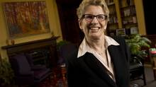 Ontario Premier Kathleen Wynne in her office at the Legislature duringafter an interview with The Globe and Mail about transportation on April 10, 2013. (Peter Power/The Globe and Mail)