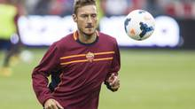 AS Roma's Francesco Totti takes part in a practice session ahead of a friendly game against Toronto FC. (Chris Young for The Globe and Mail)