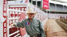 Bullrider Tanner Girletz at the Calgary Stampede in Calgary, Alberta, July 5, 2012. Girletz comes from a long line of family members that were bullriders. Photograph by Todd Korol for The Globe and Mail (TODD KOROL)