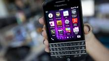The new BlackBerry Q10, photographed in Toronto on April 23, 2013. (Deborah Baic/The Globe and Mail)