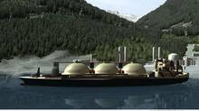 Example of a LNG floating storage unit