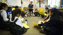 Grade three students are seen during class at Crofton House, a private school in Vancouver, on June 12, 2014. (John Lehmann/The Globe and Mail)