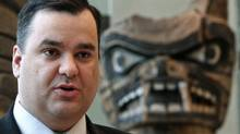 Heritage Minister James Moore as he makes an announcement at the Museum of Anthropology at the University of British Columbia in Vancouver on Dec. 20, 2010. (DARRYL DYCK/THE CANADIAN PRESS)