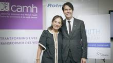 Philanthropist Sandra Rotman asked Eric Hoskins, Ontario Minister of Children and Youth Services, to have the province help fund a youth small-business program for those with mental illness. (Rise Asset Development)