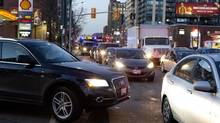 Toronto traffick can be a nightmare, especially with roads closing for the summer. <137>Rush hour traffic on Spadina Avenue in Toronto on Nov. 29, 2013. (Deborah Baic/The Globe and Mail)<137> (Deborah Baic/The Globe and Mail)
