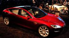 Elon Musk, Chairman, Product Architect and CEO of Tesla Motors, talks about the Model S electric vehicle Bryan Mitchell/Getty Images (Bryan Mitchell/Getty Images)