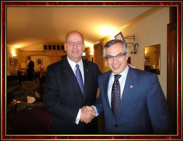 Mr. Goodwin meets Tony Clement, then president of the Treasury Board, in Ottawa in 2014.
