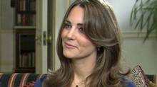 TOM BRADBY POLITICAL EDITOR, ITV NEWS interviews Prince William and fiancee Kate middleton. ITN News
