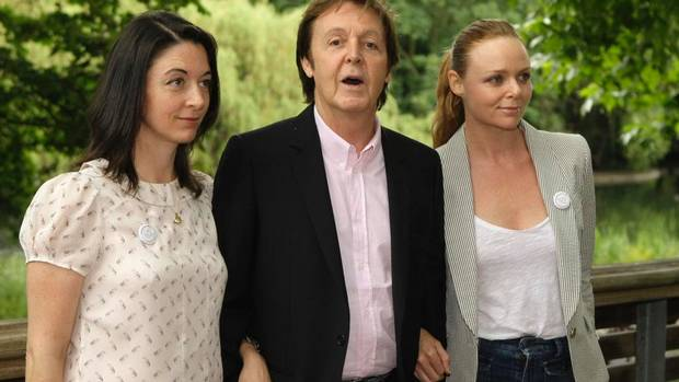 Mary McCartney, left, comes from a famous family, including former Beatle and dad Paul and fashion designer sister Stella. 'We are close and we hang out quite a lot so we bounce ideas off each other,' Mary says of her relationship with Stella. (MATT DUNHAM/The Associated Press)