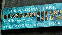 The National Debt Clock in New York, which shows the U.S. national debt. (SHANNON STAPLETON/SHANNON STAPLETON/REUTERS)