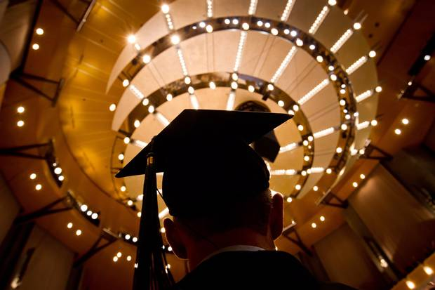 A University of British Columbia student waits to receive his diploma during a graduation ceremony in 2012.