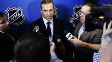 Tampa Bay Lightning general manager Steve Yzerman speaks to reporters, Wednesday, Jan. 9, 2013, in New York. (Frank Franklin II/AP)