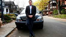Radio host and potential mayoral candidate John Tory is happy with his aging SUV - but wishes it had GPS (Fernando Morales/Fernando Morales/THE GLOBE AND M)