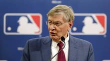 Baseball Commissioner Bud Selig speaks during a news conference at baseball's All-Star game, Tuesday, July 15, 2014, in Minneapolis. (Paul Sancya/AP)