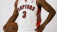 Kyle Lowry poses for a photo during the Toronto Raptors media day in Toronto on Monday, October 1 2012. (Aaron Vincent Elkaim/THE CANADIAN PRESS)