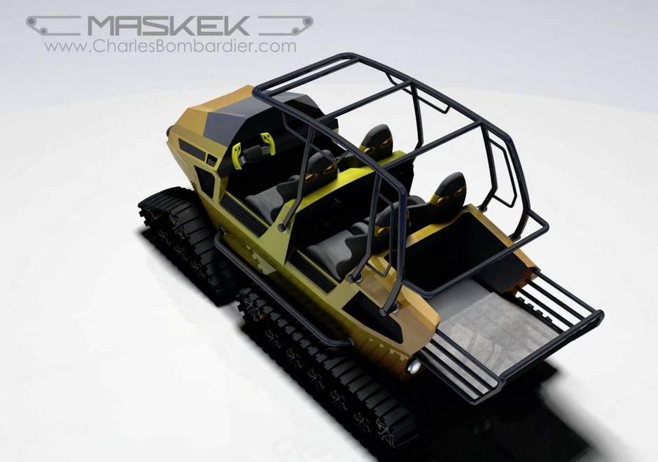 Amphibious Ski-Doo/ATV isn't stopped by deep snow, rivers or