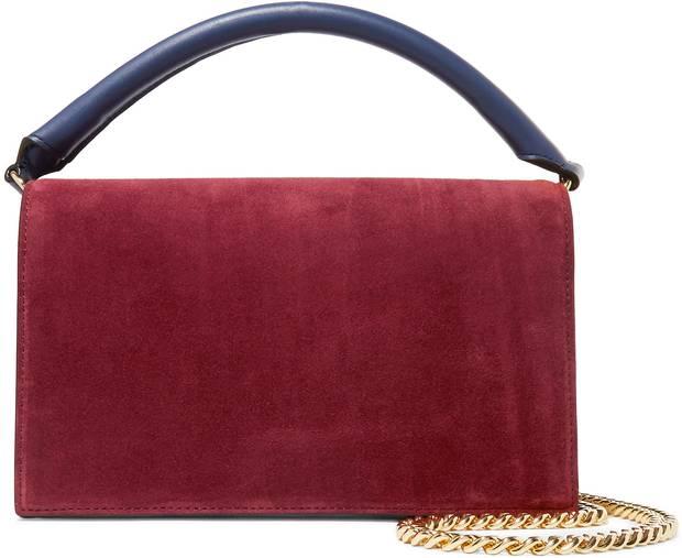 Diane von Furstenberg Soirée suede and leather shoulder bag, $400 (U.S.) through net-a-porter.com.