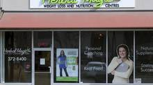 Store front for a Herbal Magic Weight Loss and Nutrition Centres shop in Kamloops, BC. The weight-loss chain has filed for bankruptcy protection, and has a tentative deal to be acquired by the private equity firm founded by Bay Street financier Steven Hudson. (DON DENTON/The Canadian Press Images)