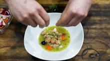 The trout aguachile at Fonda Lola on Queen Street West in Toronto. (Matthew Sherwood for The Globe and Mail)